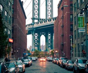 city, new york, and bridge image