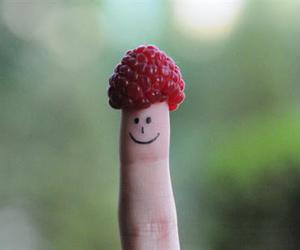 draw, raspberry, and smile image