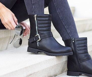 blog, boots, and fashion image