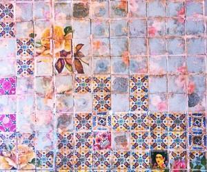 theme, pink, and tiles image