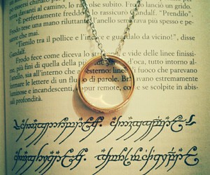 book, LOTR, and ring image