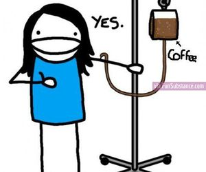 coffee, funny, and finals image