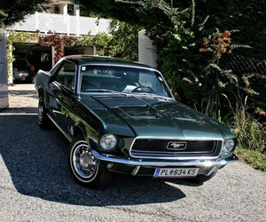 car and 1968 ford mustang image