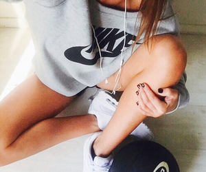nike, girl, and sport image