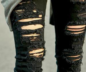 jeans, black, and ripped image