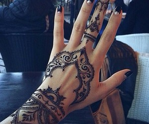 fashion, indie, and mehndi image
