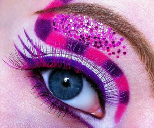 Cheshire cat, eyes, and makeup image