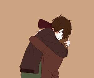 couple, girl and boy, and hug image