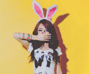 cute, asian, and bunny image