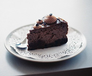 chocolate, sweet, and cake image