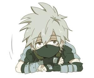 naruto, kakashi, and cute image