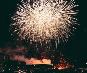 fireworks, night, and light image