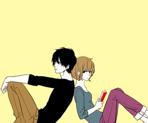 anime, couple, and girl and boy image