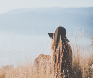 girl, nature, and view image