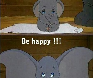 disney, dumbo, and happiness image