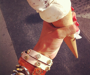 ice cream, nails, and summer image