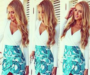 blonde, blue, and fashion image