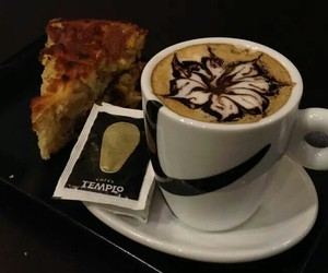 cappuccino, drink, and flower image