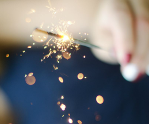 fire, fireworks, and sparkle image