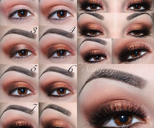 eye make up, eyes, and tutorial image