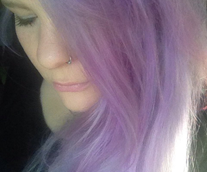 hair, lavender, and lilac image