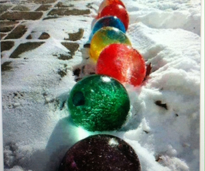 balloons, winter, and ice image