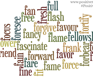 positive words, verbs, and positive dictionary image