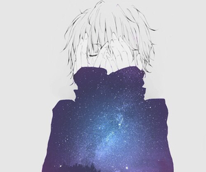 anime, boy, and galaxy image