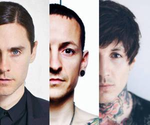 30 seconds to mars, chester bennington, and bring me the horizon image