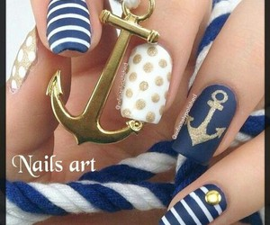 blue, nails, and nice image