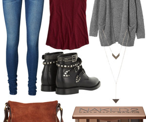 bag, fall outfit, and booties image