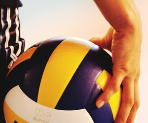 volleyball, sport, and ball image