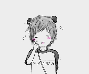 panda, anime, and kawaii image