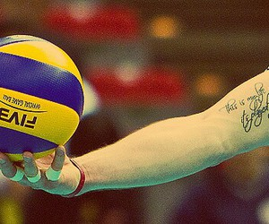volleyball and tattoo image
