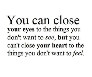 quotes, heart, and eyes image