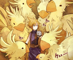 cloud strife, chocobo, and cloud image
