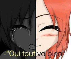 sad, happy, and triste image