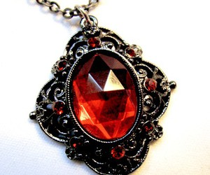 black and red, charm, and gem image