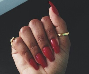 accessories, nails, and red image