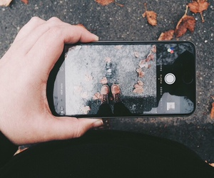 iphone, fall, and photography image