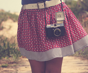 camera, skirt, and girl image