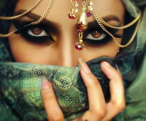 brown eyes, make-up, and muslim image