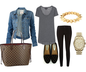 outfit, jacket, and jeans image