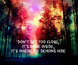 colorful, Darkness, and demons image
