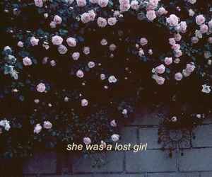 flowers, girl, and lost image