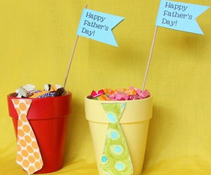 candies can, gift dad, and candies filled tie image