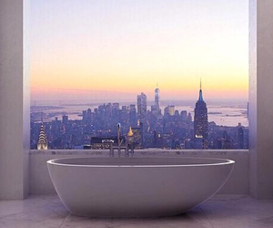 bath, bathroom, and city image