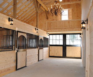 stable and barn image