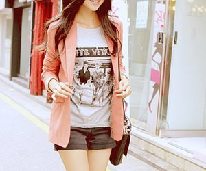 girl, street, and cute image