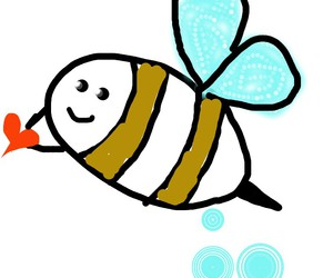 bee, cartoon, and drawing image